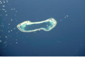 Tuvalu, an island in danger. Photo / NASA