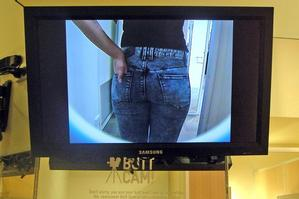 Jeanswest says the camera, which plays on a large screen, is not a recording device.