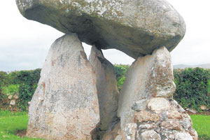 The Proleek Dolmen is one of many ancient megaliths that can be found in Ireland. Photo / Graham Reid