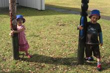 The kids finding fun in Russell. Photo / Dita De Boni