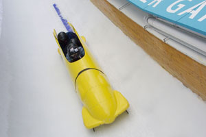 Park City is one of only three places in the world to offer thrillseekers the chance to ride a bobsled. Photo / Supplied