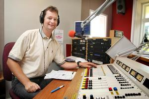 Allan Symes makes his first broadcast on Planet FM. Photo / Natalie Slade