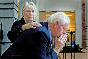 Bruce and Judy Bartle say the pressure of debt has pushed them both close to suicide. Photo / NZ Listener