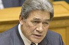 Winston Peters said that if NZ First was returned to Parliament it would work to extend the SuperGold Card benefits. Photo / Mark Mitchell