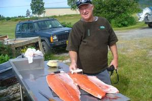 Tank Barker, a familiar figure in Houhora, says fishing is his life. Photo / Supplied