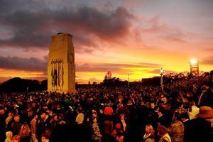 The Auckland Dawn Service. Photo / Greg Bowker
