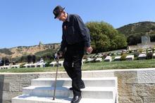 Family ties: War veteran Morris Johnstone honours the uncle he never met at Chunuk Bair. Photo / Getty Images