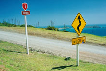 Asphalt has been laid on the final 100m of gravel on SH1 at Cape Reinga. File photo / Northern Advocate