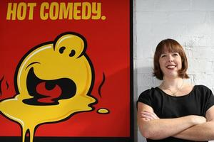 Comedy Festival director Kylie Aitchison says gloom and doom seems to help comedy show sales. Photo / Greg Bowker