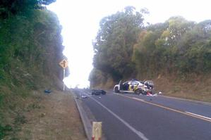Motorcyclist Paul Brown was killed when he collided with a police car making a u-turn on Waerenga Rd, between Waerenga and Te Kauwhata. Photo / Bruce McCulloch