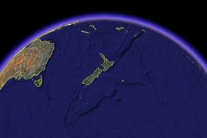 'Hub' is the last word that springs to mind when looking at New Zealand on a map. Photo / Google Earth