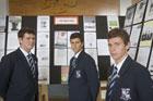 Sacred Heart College students Sean Durkin (from left), Nicholas Garelja and Paul Marcenac. Photo / Paul Estcourt