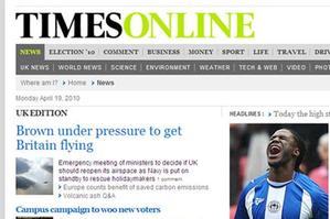 Screengrab from www.timesonline.co.uk
