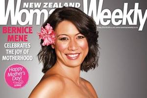 Bernice Mene poses nude, pregnant and proud for the  New Zealand Woman's Weekly . Photo / Supplied