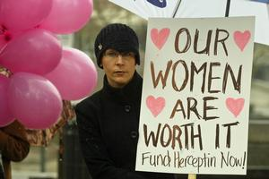 Pharmac's initial refusal to fund the breast cancer drug Herceptin was confronted by a public campaign. Photo / Glenn Jeffrey
