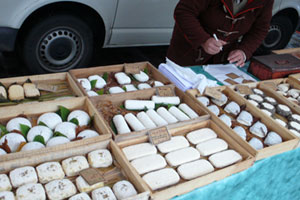 Cheese at a Sunday market in Bordeaux. Photo / Peter Calder