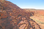 Kings Canyon is situated in the Watarrka National Park, some 450km southwest of Alice, with incredible sheer cliffs and domed rocks that look like piles of pancakes. Photo / Greg Dixon