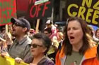 Thousands hit the streets in Auckland to protest Goverment plans to open up conservation land to mining.