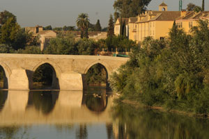 The old Roman bridge over the Guadalquivir River in Cordoba. Photo / Liz Light