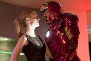 Gwyneth Paltow's Pepper Potts gets close to boss Iron Man (Robert Downey Jnr). Photo / Supplied
