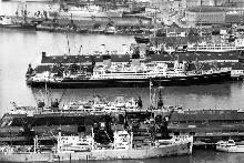 Queens Wharf (centre in this 1957 photo) has long been an important part of the port. Photo / NZ Herald