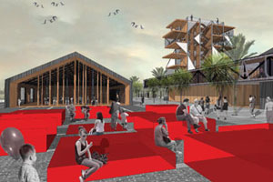 One of the concept design entries from finalist Stevens Lawson Architects. Photo / Supplied