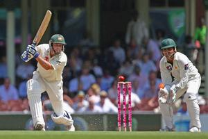 Michael Hussey of Australia bats at the Sydney Cricket Ground. Photo / Getty Images