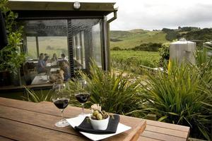 The Shed at Te Motu Vineyards is a pleasantly Kiwi sort of place. Photo / Babiche Martens
