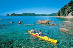 Kayaking is an ideal way to explore  Abel Tasman National Park's numerous bays. Photo / Supplied