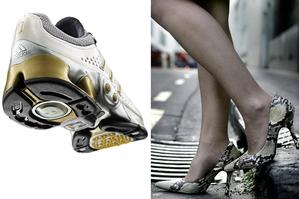 An American study claims that running shoes do more damage than wearing high heels.