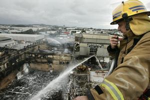Senior station officer Dave Woon surveyed the damage yesterday. Photo / Janna Dixon