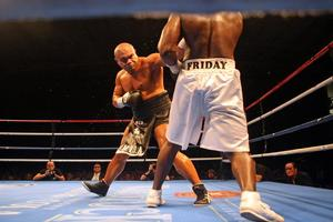 David Tua's last bout against Friday Ahunanya was was marked by wrangling in the background. Photo / Dean Purcell