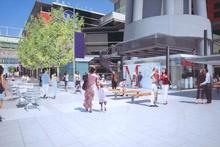 SkyCity's proposed development plans for Federal St include a large sky bridge. Photo / Supplied 