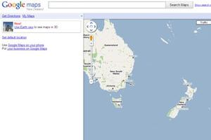 Screengrab of maps.google.co.nz
