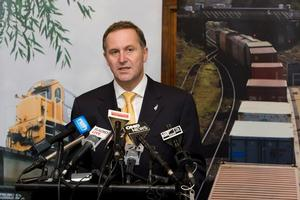 John Key says the Government is committed to turning KiwiRail around and making it work for the taxpayer. Photo / Mark Mitchell