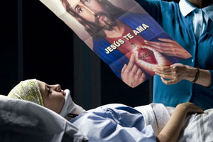 A sick child's parents look to religion for answers. Photo / Supplied