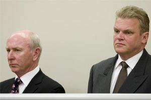 Rod Petricevic and Robert Roest in court last year. Photo / Richard Robinson.
