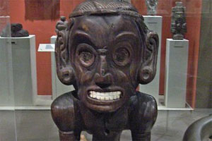 A Taino deity figure with barred teeth. Photo / Creative Commons image from Flickr by peterjr1961