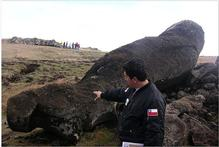 The rock effigies, known as moai, were not discards, as thought. Photo / Supplied