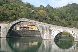 The most beautiful bridge in the world is unfathomably named Ponte del Diavolo (Devil's Bridge). Photo / John Sherson