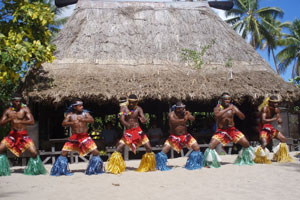 Dancers greet guests on Robinson Crusoe Island. Photo / Supplied
