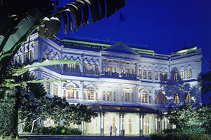 Raffles Hotel in Singapore with its olde-world elegance is a destination in itself. Photo / Supplied