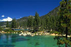 Gorgeous Lake Tahoe is a popular location for fishing and both winter and summer recreation. Photo / Wikimedia Commons image by Christian Abend