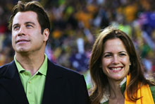 John Travolta and his wife Kelly Preston are reportedly expecting twins. Photo / Getty Images