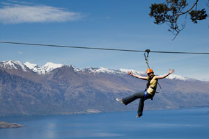 The spectacular vista is outlined from the Ziptrek line. Photo / Supplied