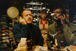 The crafty character Bazil (played by French comedian Dany Boon, left) adds flair to Micmacs, a  strange tale about artisan dump-dwellers who take on weapons manufacturers. Photo / Supplied by Lynn Smart