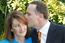 John Key, with wife Bronagh, says his vasectomy has been 'highly successful'. Photo / Glenn Jeffrey