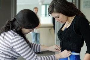 Anita Sundara, 19, of Bethells must first pass the measuring tape test. Photo / Janna Dixon