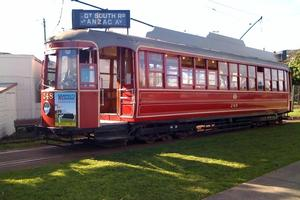 Auckland's heritage 'Streamliner' tram  withdrawn from service in 1956 now operating at Motat. Photo / Supplied