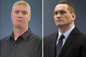John Skinner and Iain Clegg have denied murdering Sergeant Don Wilkinson. Photos / NZPA